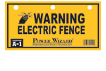 A-1 - Power Wizard Electric Fence Warning Sign